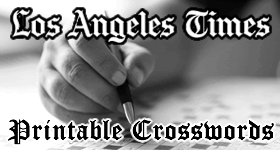 Los Angeles Times Printable Crossword