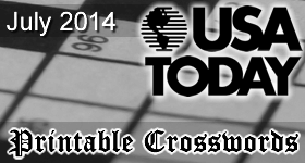 USA Today Print Crossword July 2014